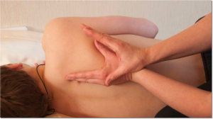 Scapula posterior deprerssion hand hold